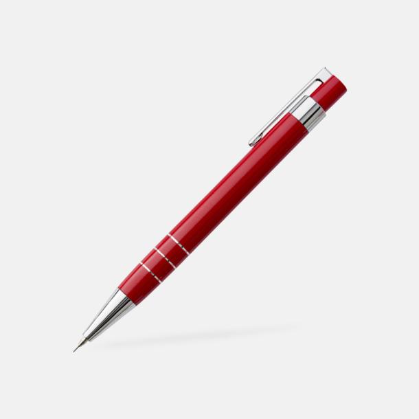 Stiftpenna (röd) Pennset med läderfodral med reklamtryck