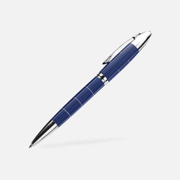 Blå Mönstrat pennset med refil - med reklamtryck