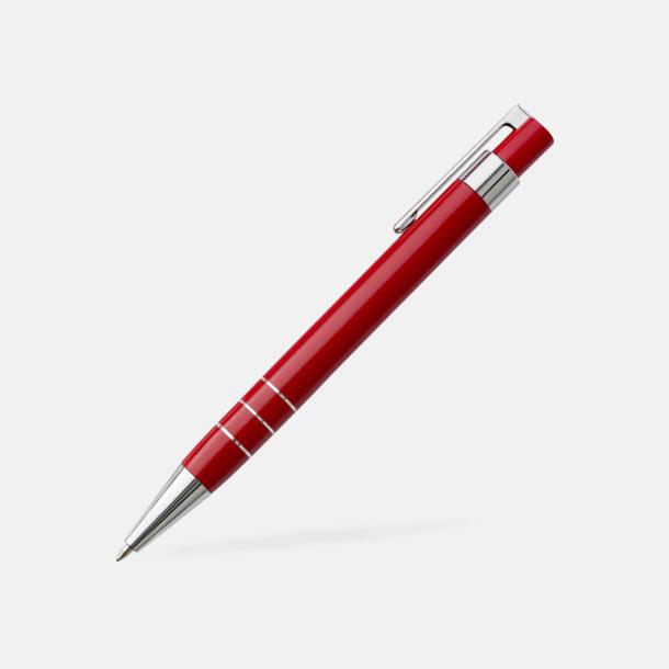 Kulspetspenna (röd) Pennset med läderfodral med reklamtryck
