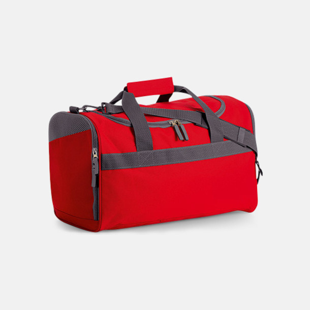 Röd/Graphite Sportbagar i olika mönster med reklamtryck