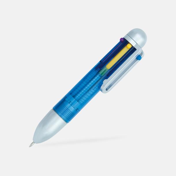 Blå Minipenna med 6 färger - med reklamtryck