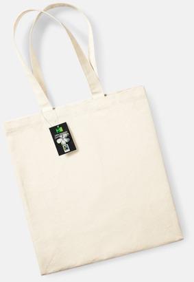 Natur Fairtrade-certifierade bomullskassar med reklamtryck