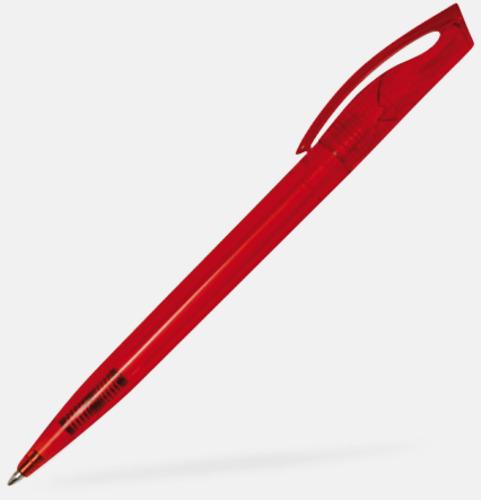 Röd Vågiga plastpennor med reklamtryck på toppen!
