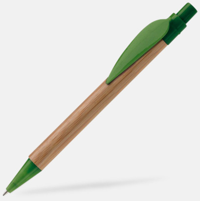 Mörkgrön Ekologisk bambupenna med reklamtryck