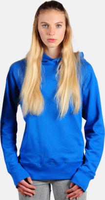 Azure Blue Eko huvtröjor i Fairtrade-bomull med reklamtryck
