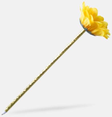 Gul Ros- eller solrosformade pennor med reklamtryck