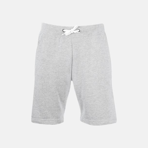 Grey Melange Shorts i herrmodell med reklamtryck