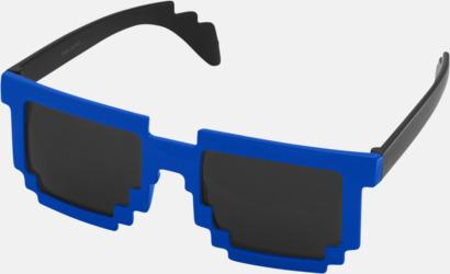 Royal/Svart Pixelinspirerade solglasögon med reklamtryck