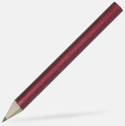 Burgundy Billiga blyertspennor i många färger med eget tryck