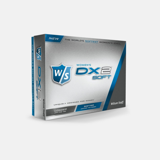 Vit Wilson Staff DX 2 Soft Distance Women - med reklamtryck