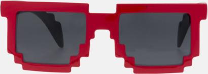 Pixelinspirerade solglasögon med reklamtryck