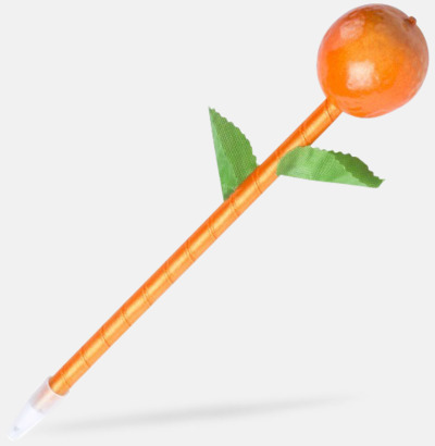 Apelsin Penna med en frukt på toppen - med reklamtryck