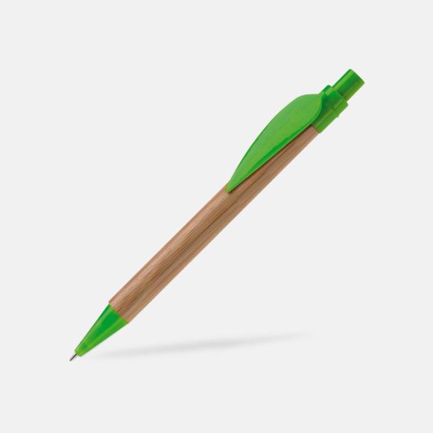 Grön Ekologisk bambupenna med reklamtryck