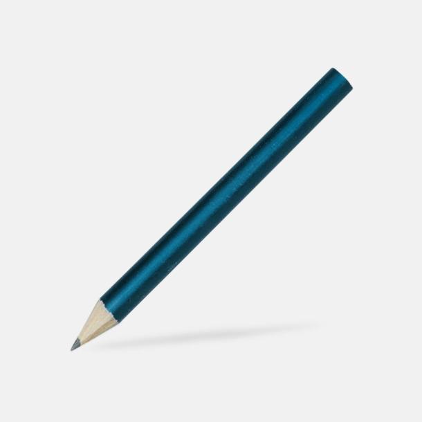 Mörkblå Billiga blyertspennor i många färger med eget tryck