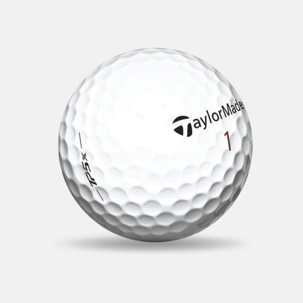 Vit Taylor Made TP5x golfbollar med reklamtryck