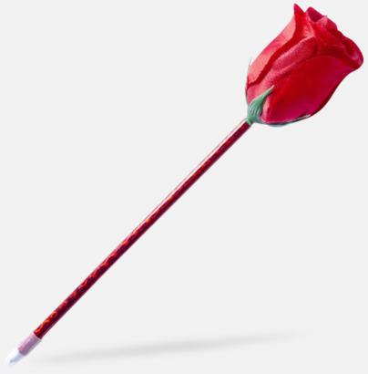 Röd Ros- eller solrosformade pennor med reklamtryck
