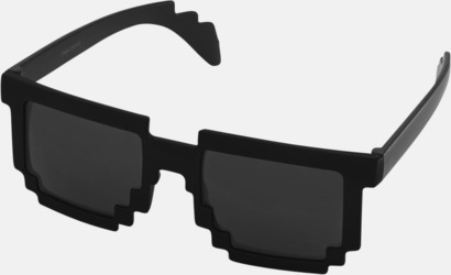 Svart Pixelinspirerade solglasögon med reklamtryck