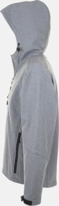 Grey Melange Softshell jackor i herr-, dam- & barnmodell med reklamtryck