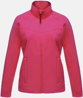 Hot Pink (endast dam) Soft-shell jackor i herr- & dammodell med reklamtryck