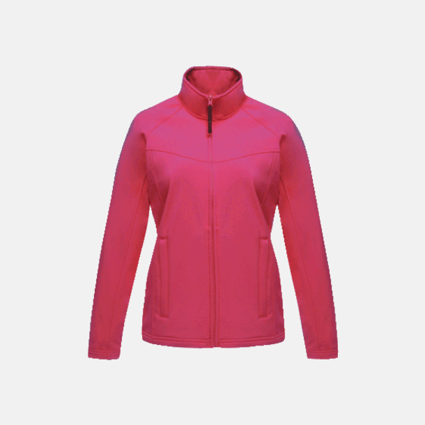 Hot Pink (dam) Soft-shell jackor i herr- & dammodell med reklamtryck