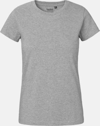 Sports Grey Melange (dam) Klassiska t-shirts i ekologisk fairtrade-bomull med tryck