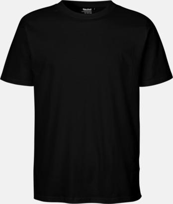 Svart Ekologiska fairtrade t-shirts med tryck
