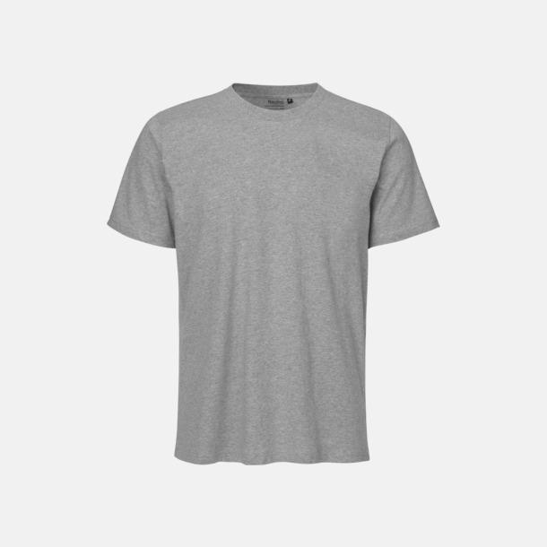 Sport Heather (melange) Ekologiska fairtrade t-shirts med tryck