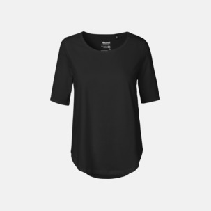 Eko dam t-shirts Fairtrade med längre ärmar - med reklamtryck