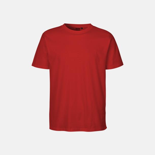 Röd (PMS 199U) Ekologiska fairtrade t-shirts med tryck