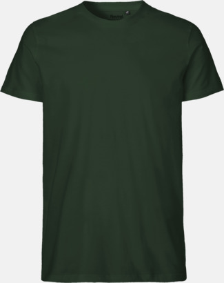 Bottle Green (herr) Fitted t-shirts i ekologisk fairtrade-bomull med tryck