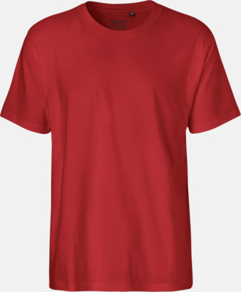 Herr Röd (PMS 199U) Klassiska t-shirts i ekologisk fairtrade-bomull med tryck