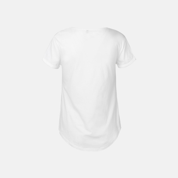 Eko & Fairtrade-certifierade t-shirts med roll up sleeves - med reklamtryck