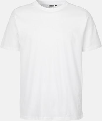 Vit Ekologiska fairtrade t-shirts med tryck