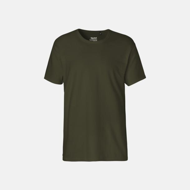 Military (herr) Eko t-shirts i interlocktyg med reklamtryck