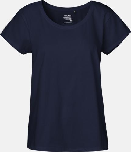 Navy (PMS 533C) T-shirts med ledig passform - med reklamtryck