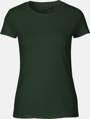Bottle Green (dam) Fitted t-shirts i ekologisk fairtrade-bomull med tryck