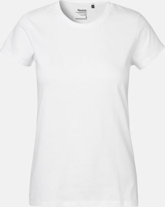 Vit (dam) Klassiska t-shirts i ekologisk fairtrade-bomull med tryck