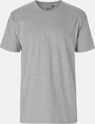 Sports Grey Melange (herr) Klassiska t-shirts i ekologisk fairtrade-bomull med tryck