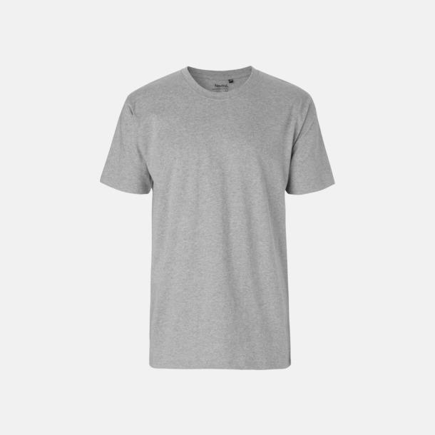 Sports Grey (herr) Klassiska t-shirts i ekologisk fairtrade-bomull med tryck