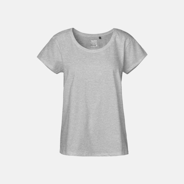 Sports Grey (melange) T-shirts med ledig passform - med reklamtryck