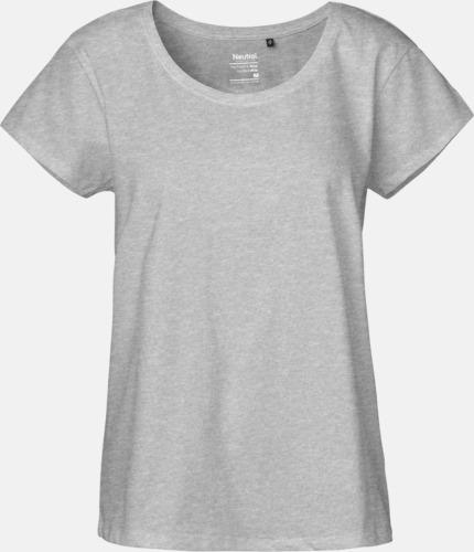 Sports Grey T-shirts med ledig passform - med reklamtryck