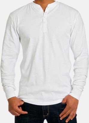 Vit (herr) Långärmade herr-, dam- & barn t-shirts eko & Fairtrade med reklamtryck
