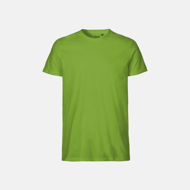 Lime (herr) Fitted t-shirts i ekologisk fairtrade-bomull med tryck
