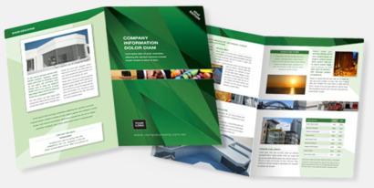Broschyr booklets med eget tryck