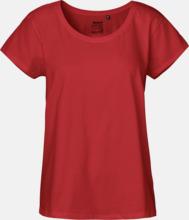 t-shirts med ledig passform - med reklamtryck