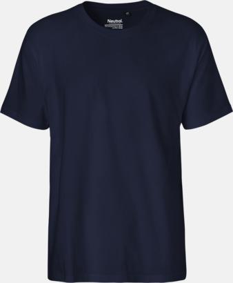 Herr Marinblå (PMS 533C) Klassiska t-shirts i ekologisk fairtrade-bomull med tryck