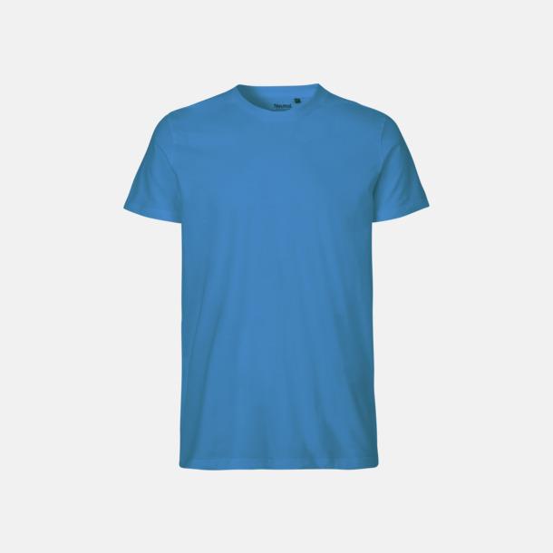 Sapphire (herr) Fitted t-shirts i ekologisk fairtrade-bomull med tryck