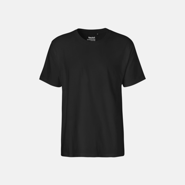 Svart (herr) Klassiska t-shirts i ekologisk fairtrade-bomull med tryck