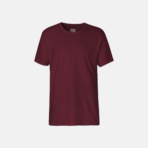 Bordeaux (herr) Eko t-shirts i interlocktyg med reklamtryck