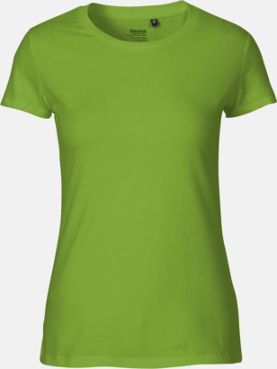 Lime (dam) Fitted t-shirts i ekologisk fairtrade-bomull med tryck